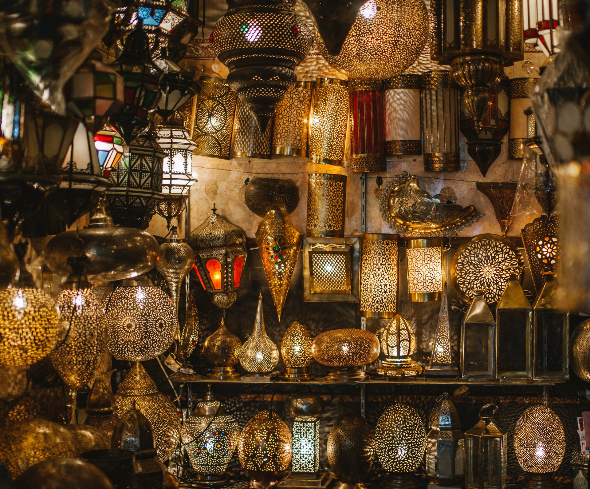 Moroccan Lighting shop display